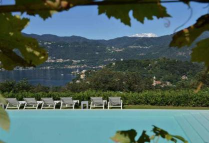 Agriturismo lago Maggiore con bellissima vista