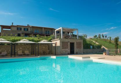 Agriturismo divertente in Toscana con piscina panoramica
